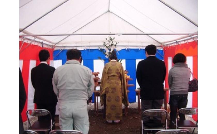 地鎮祭を執り行いました。 by有田
