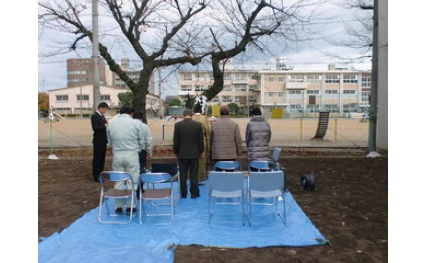 矢島会長 住宅新築工事 起工式おめでとうございます。 by日置