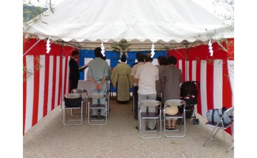 岐阜市内にて、地鎮祭を執り行いました。