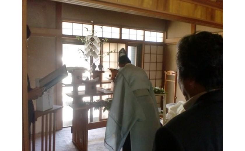 平成26年6月1日 羽島市内にて S様邸地鎮祭を執り行いました。