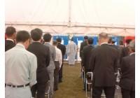 平成26年8月18日 岐阜県羽島郡岐南町にて JAぎふ岐南支店新築工事の地鎮祭を執り行いました。