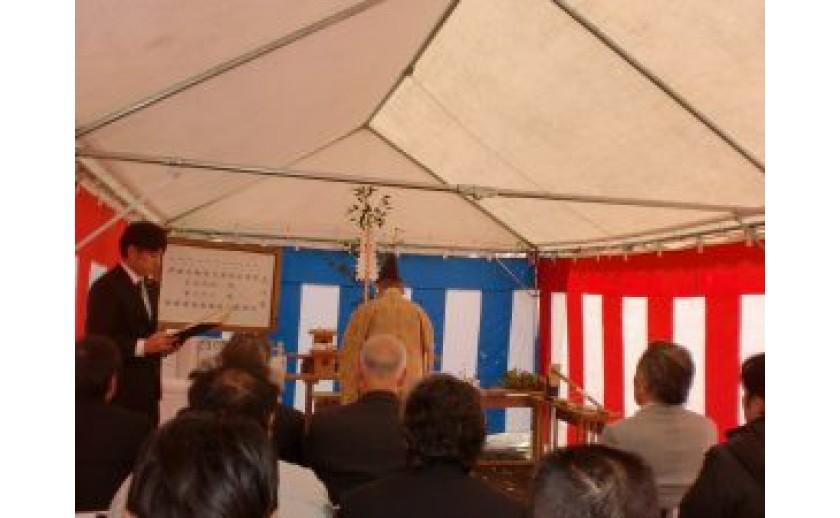 一宮市にてサービス付き高齢者向け住宅の地鎮祭を執り行いました。